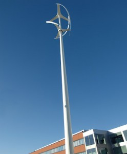 Mercedes Benz Wind Turbine Installation