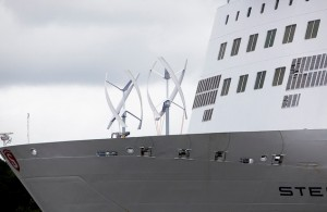 UGE wind turbine on Stena ferry